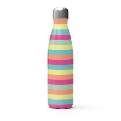 Candy Rainbow Stripes Water Bottle