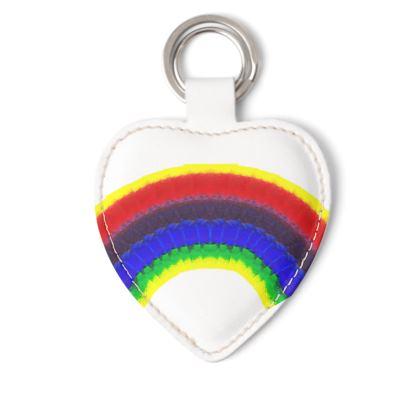 Painted rainbow keyring