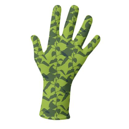 Japanese Lantern Collection (Green & Yellow) - two pairs of luxury gloves