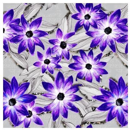 Purple pansy cushion