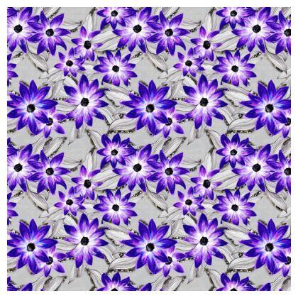 Purple pansy ditsy cushion