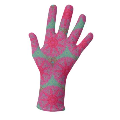 Mandala Trio (Pink/Teal & Blue/Yellow) - two pairs of luxury gloves