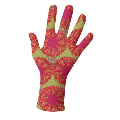 Mandala Trio (Pink/Lime & Blue/Orange) - two pairs of luxury gloves