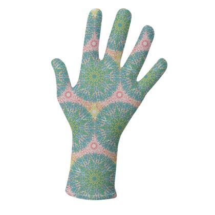 Mandala Trio (Teal/Pink & Pink/Teal) - two pairs of luxury gloves