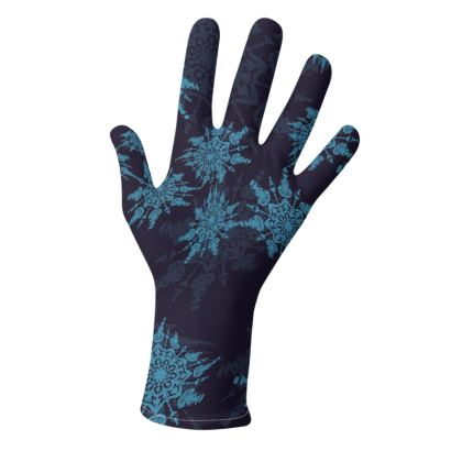 Snow Flake Collection (Blue) - two pairs of luxury gloves