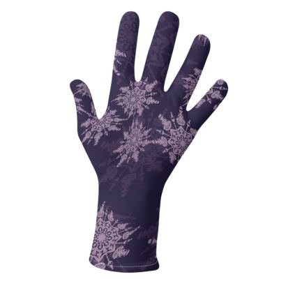 Snow Flake Collection (Violet and Blue) - two pairs of luxury gloves