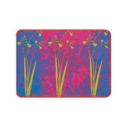 Kabukis Garden Collection (Lilac/Yellow) - Luxury card holder
