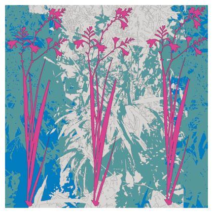 Kabukis Garden Collection (Teal/Pink) - luxury cushion