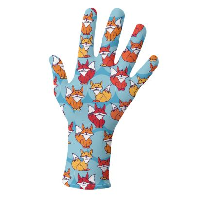 Foxy Loxy Collection (Blue and Beige) - two pairs of luxury gloves