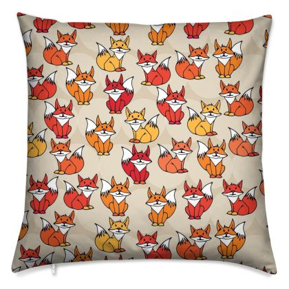 Foxy Loxy Collection (Beige) - luxury cushion