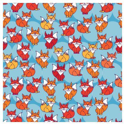 Foxy Loxy Collection (Blue) - luxury cushion