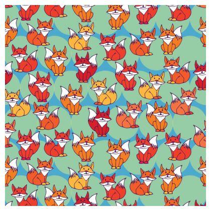 Foxy Loxy Collection (Green) - luxury cushion