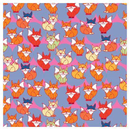 Foxy Loxy Collection (Lilac) - luxury cushion