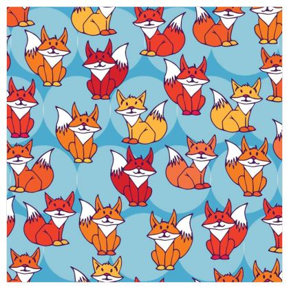 Foxy Loxy Collection (Blue) - luxury wallpaper
