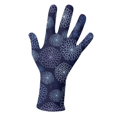 Chrysanthemums (China Blues and Purples) - luxury gloves