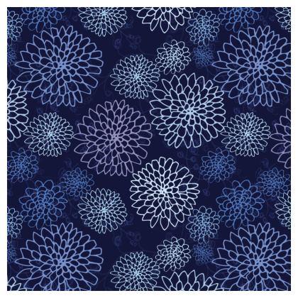 Chrysanthemum Collection (China Blues) - luxury cushion