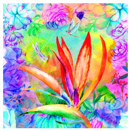 Tropical Birds of Paradise Espadrilles