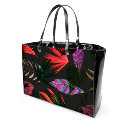 Multicoloured Leaves Handbags