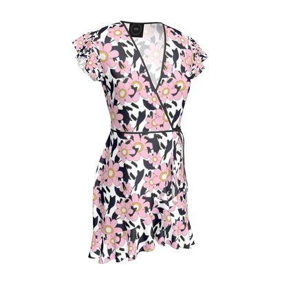 PinkPretty Ruffle Wrap Dress