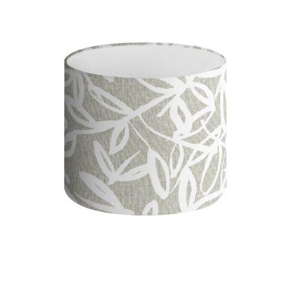 Summer Leaf Print Drum Lamp Shade