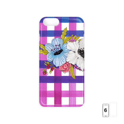 Floral & Gingham Check iPhone 6/6 Plus Case