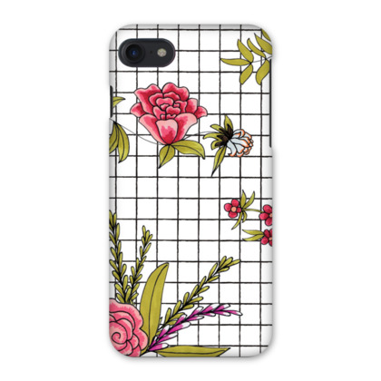 Floral Embroidery Printed iPhone 7 Case