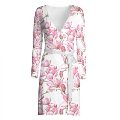 Magnolia Wrap Dress