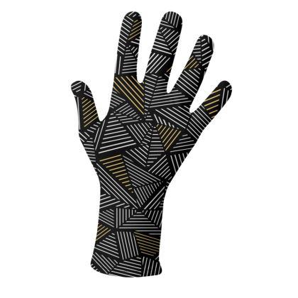 Ab Linear Black Gold Gloves 2 pack
