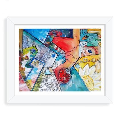 I see the world framed print