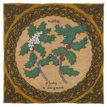 Tree Calendar Holly Scarf, Wrap or Shawl