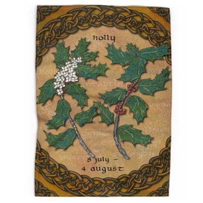 Tree Calendar Holly Tea Towel