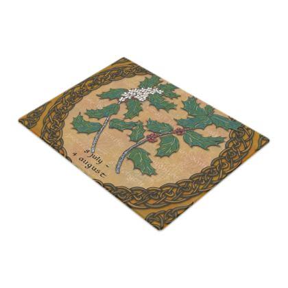 Tree Calendar Holly Chopping Board