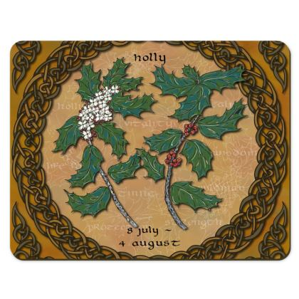 Tree Calendar Holly Placemat Set