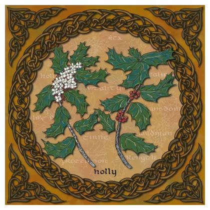 Celtic Holly China Plate