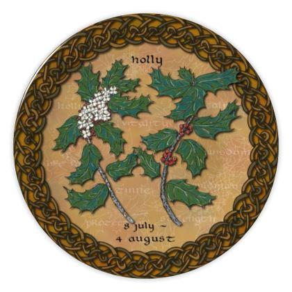 Tree Calendar Holly China Plate