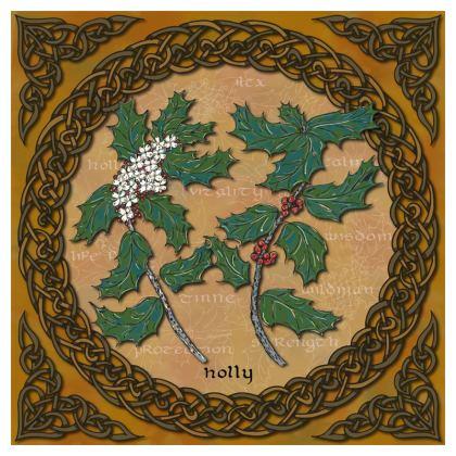 Celtic Holly Cushion