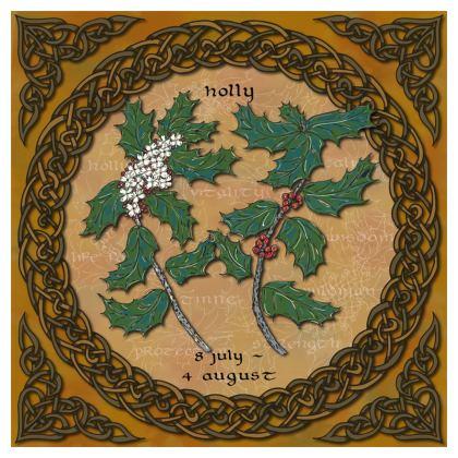 Tree Calendar Holly Cushion