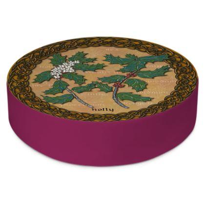 Celtic Holly Floor Cushion