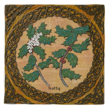 Celtic Holly Throw Blanket