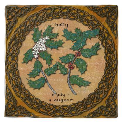 Tree Calendar Holly Throw Blanket
