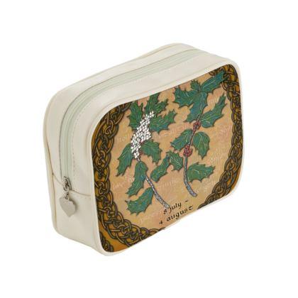Tree Calendar Holly Make Up Bag