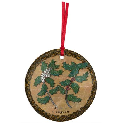 Tree Calendar Holly Hanging Ornament