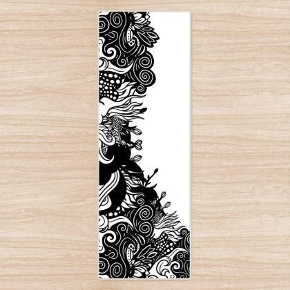 Floral White Yoga Mat