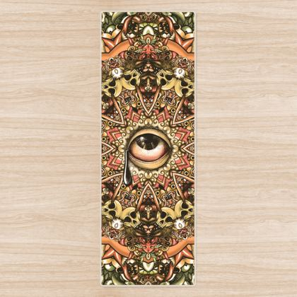 Mandala eye Yoga Mat