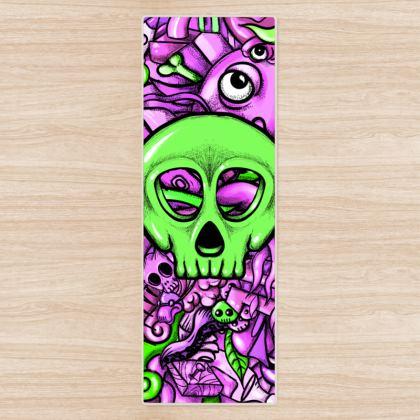 Green Skull Yoga Mat