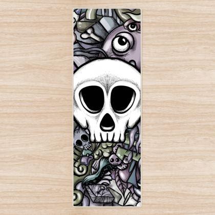 White Skull Yoga Mat