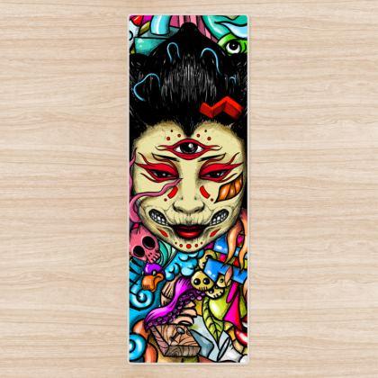 Geisha Doodles Yoga Mat