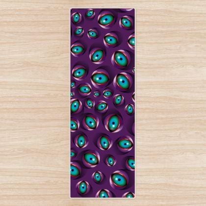 Purple Eyes Yoga Mat