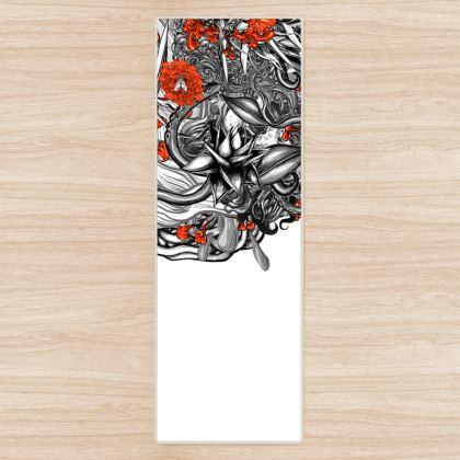 Flower White Yoga Mat