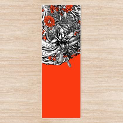 Flower Orange Yoga Mat